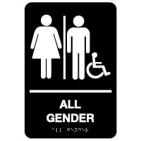 All Gender (Access Symbol) - Economy Braille Signs