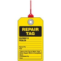 Repair Plastic Safety Tag