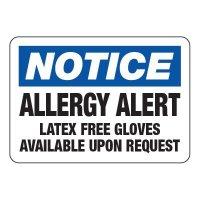 Allergy Alert - Allergy Awareness Signs