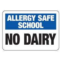 Allergy Safe School No Dairy - School Allergy Signs