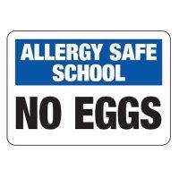 Allergy Safe School No Eggs - School Allergy Signs