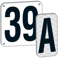 """12"""" White Aluminum Number And Letter Plates"""