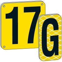 """12"""" Yellow Aluminum Number And Letter Plates"""
