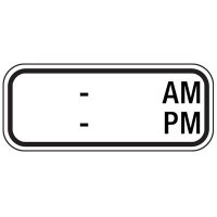 __ AM to __ PM - Custom School Zone Speed Limit Signs