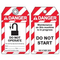 ANSI Lockout Tags - Danger Do Not Operate