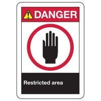 ANSI Signs - Danger Restricted Area