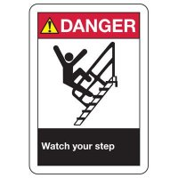 ANSI Signs - Danger Watch Your Step