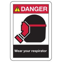 ANSI Signs - Danger Wear Your Respirator