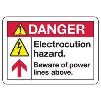 ANSI Safety Signs - Danger Electrocution Hazard