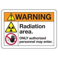 ANSI Safety Signs - Warning Radiation Area