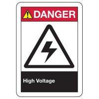 Electrical Safety Signs - ANSI Danger High Voltage