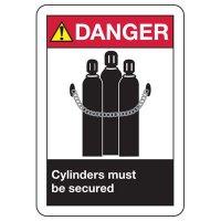 ANSI Danger Cylinders Signs