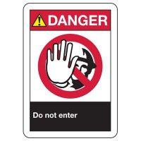ANSI Danger Do Not Enter Signs