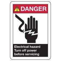 Electrical Safety Signs - ANSI Danger Electrical Hazard