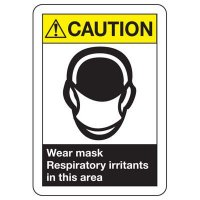 ANSI Caution Wear Mask Signs