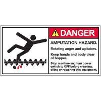 ANSI Warning Labels - Danger Amputation Hazard