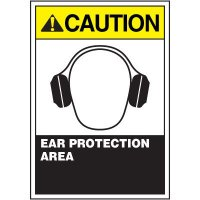 ANSI Warning Labels - Caution Ear Protection Area