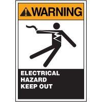 ANSI Warning Labels - Warning Electrical Hazard