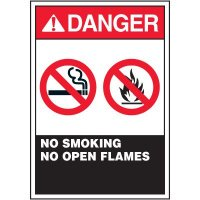 ANSI Warning Labels - Danger No Smoking