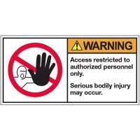 ANSI Warning Labels - Warning Access Restricted