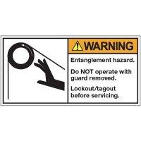 ANSI Warning Labels - Warning Entanglement Hazard
