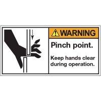 ANSI Warning Labels - Warning Pinch Point