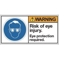 ANSI Warning Labels - Warning Risk Of Eye Injury