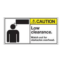 ANSI Warning Labels - Caution Low Clearance