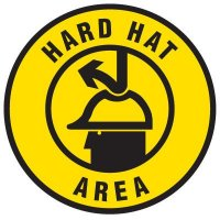 Floor Safety Signs - Hard Hat Area