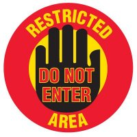 Floor Safety Signs - Restricted Area Do Not Enter