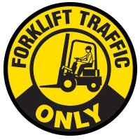 Floor Safety Signs - Forklift Traffic Only