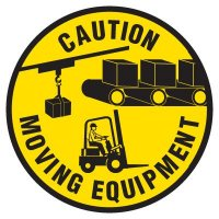 Floor Safety Signs - Caution Moving Equipment