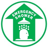 Floor Safety Signs - Emergency Shower