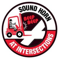Floor Safety Signs - Sound Horn At Intersections