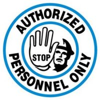 Floor Safety Signs - Authorized Personnel Only