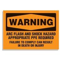 Arc Flash And Shock Hazard - Voltage Warning Labels