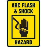 Arc Flash Hazard And Shock Hazard Floor Label