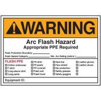 Arc Flash Labels - Warning Arc Flash Hazard