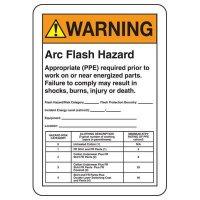 Arc Flash Signs - Warning Arc Flash Hazard