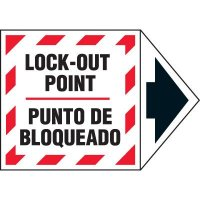Bilingual Arrow Labels - Lock-Out Point