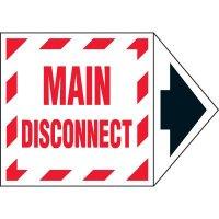 Arrow Labels - Main Disconnect