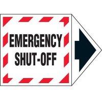 Arrow Labels - Emergency Shut-off