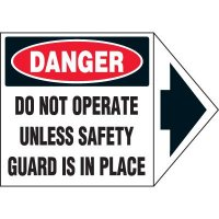 Arrow Labels - Danger Do Not Operate