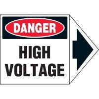 Arrow Labels - Danger High Voltage