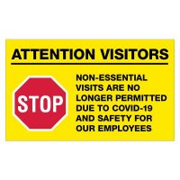 COVID-19 Banners - No Non-Essential Visitors