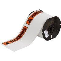 Brady B30 Series B30-25-854-ANSIWA Label - Black/Orange on White