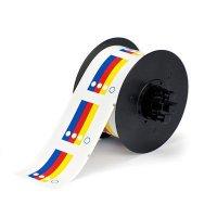 Brady B30 Series B30-244-595-HMIG Label - Blue/Red/Yellow on White