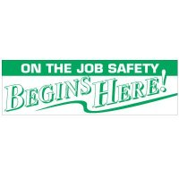 On The Job Safety Banner