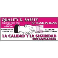 Bilingual Quality And Safety Banner