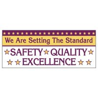 Safety, Quality, Excellence Banner